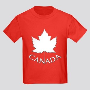 Canada Maple Leaf Souvenir Kids Dark T-Shirt
