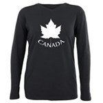 Canada Maple Leaf Souven Plus Size Long Sleeve Tee