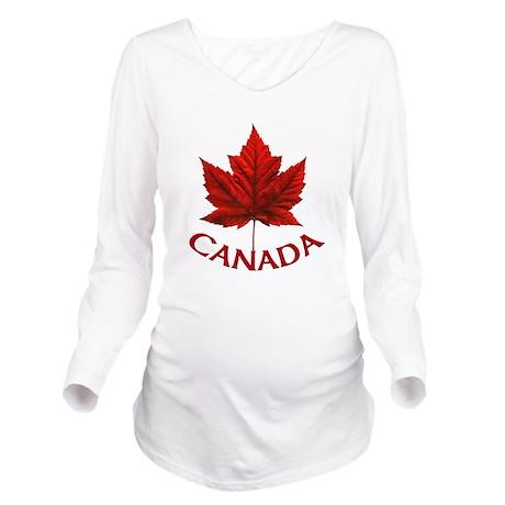 Canada Maple Leaf So Long Sleeve Maternity T-Shirt