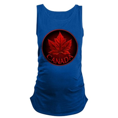 Canada Maple Leaf Souvenir Maternity Tank Top