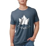 Canada Maple Leaf Souvenir Mens Tri-blend T-Shirt