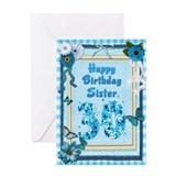 30th birthday sister Greeting Cards