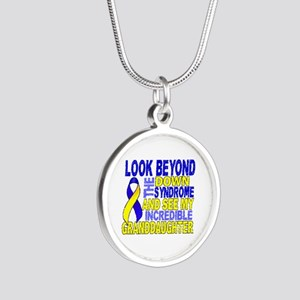 DS Look Beyond 2 Granddaught Silver Round Necklace
