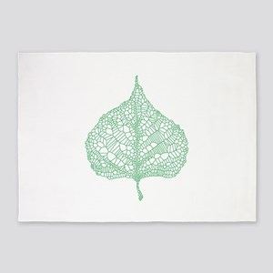 Green heart leaf 5'x7'Area Rug