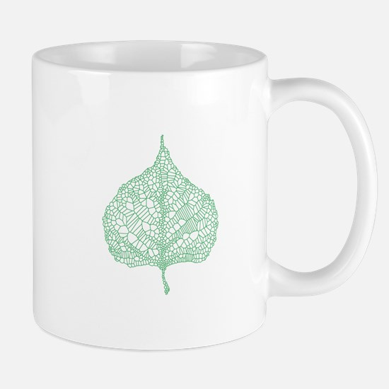 Green heart leaf Mugs