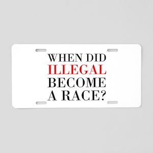 Illegal Race Aluminum License Plate