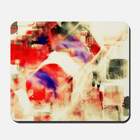 Abstract Barber Pole Mousepad