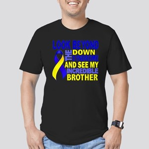 DS Look Beyond 2 Broth Men's Fitted T-Shirt (dark)