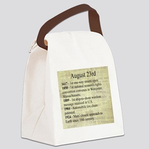 August 23rd Canvas Lunch Bag