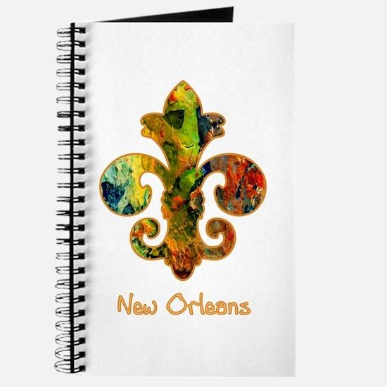 Painted Fleur de lis (2) Journal