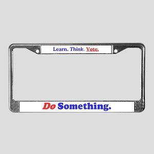 Do Something License Plate Frame