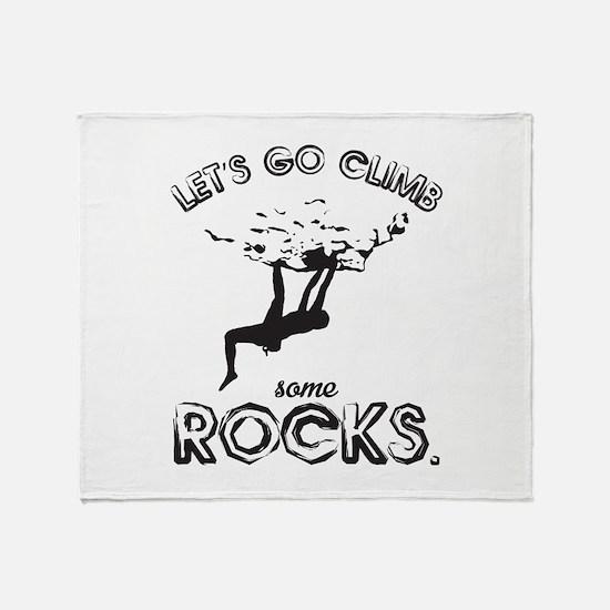 Let's Climb Throw Blanket