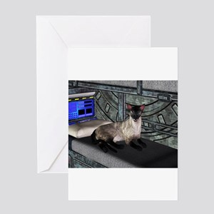 Space Cat Greeting Cards