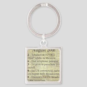 August 20th Keychains