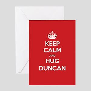 Hug Duncan Greeting Cards