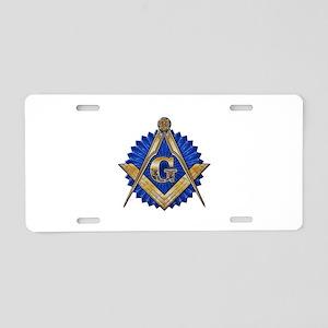 Blue Lodge Mason Aluminum License Plate