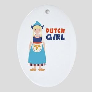 DUTCH GIRL Ornament (Oval)