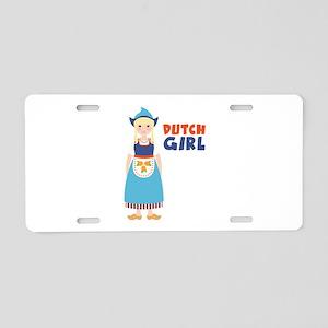DUTCH GIRL Aluminum License Plate