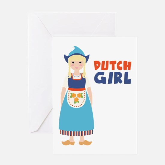 DUTCH GIRL Greeting Cards