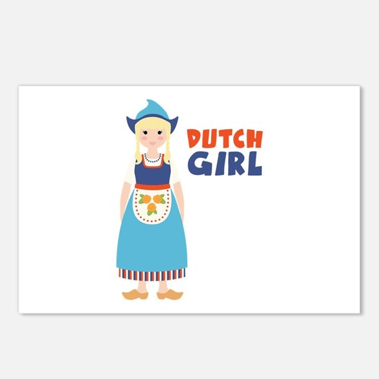DUTCH GIRL Postcards (Package of 8)