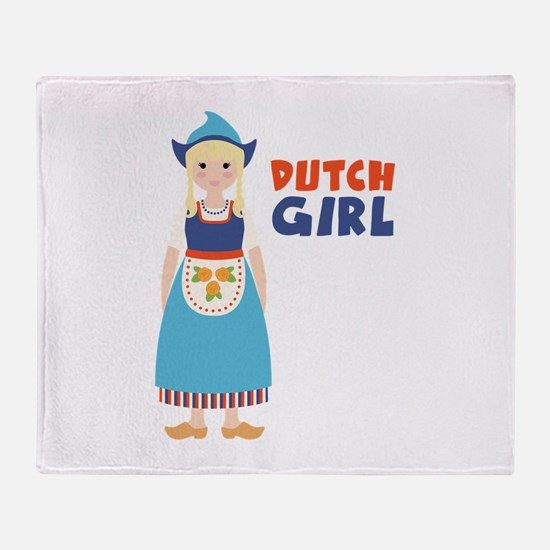 DUTCH GIRL Throw Blanket