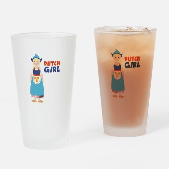 DUTCH GIRL Drinking Glass