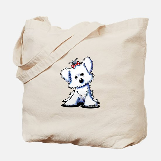 Girlie Maltese Tote Bag