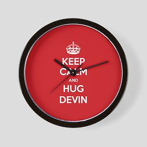 Hug Devin Wall Clock