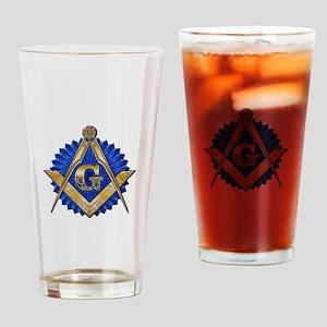 Blue Lodge Mason Drinking Glass