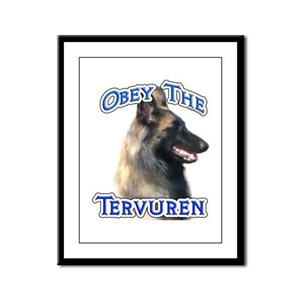 Terv Obey Framed Panel Print