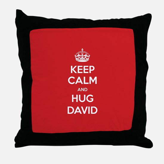 Hug David Throw Pillow