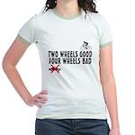 Two Wheels Good Jr. Ringer T-Shirt
