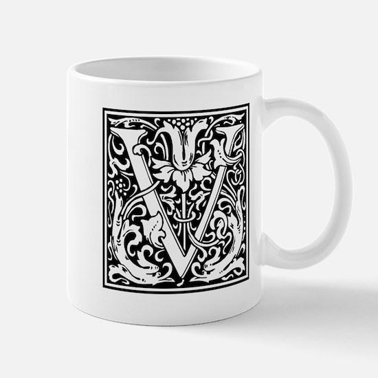Decorative Letter V Mugs