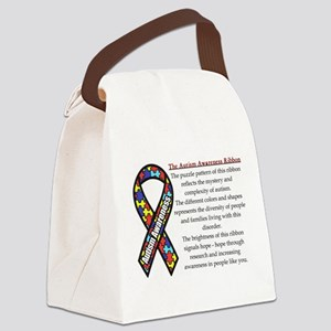 Ribbon meaning Canvas Lunch Bag