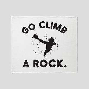 Rock Climbing Throw Blanket