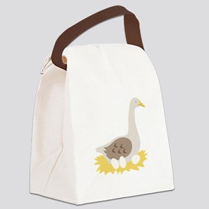 6. Mother Goose Bird Geese Canvas Lunch Bag