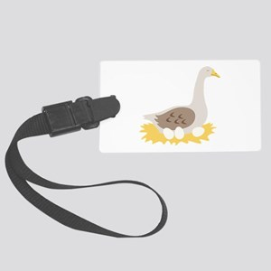 6. Mother Goose Bird Geese Luggage Tag