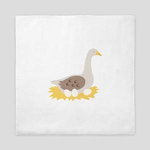 6. Mother Goose Bird Geese Queen Duvet