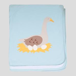 6. Mother Goose Bird Geese baby blanket