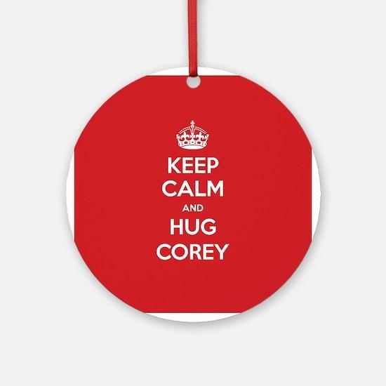 Hug Corey Ornament (Round)