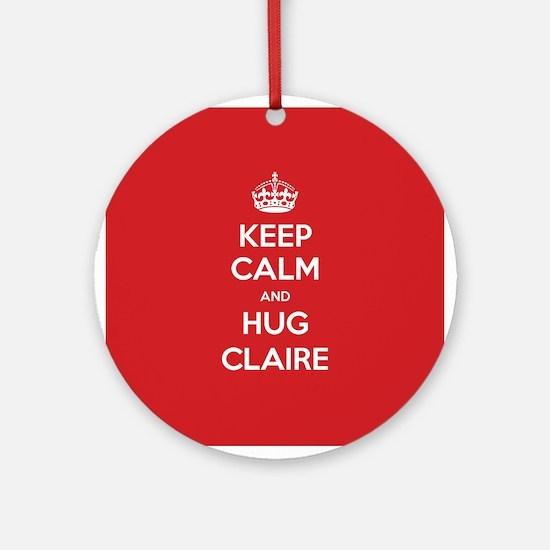 Hug Claire Ornament (Round)