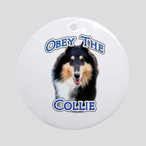 Collie Obey Ornament (Round)