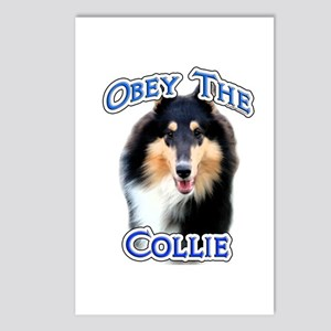 Collie Obey Postcards (Package of 8)