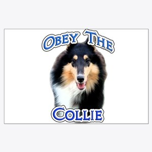 Collie Obey Large Poster