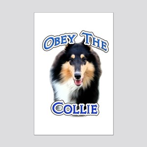 Collie Obey Mini Poster Print