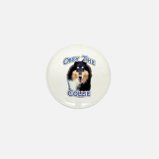 Collie Obey Mini Button