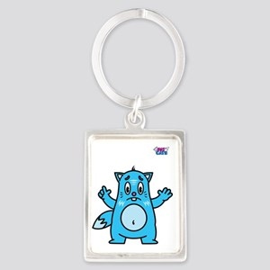 ICE CAT Portrait Keychain