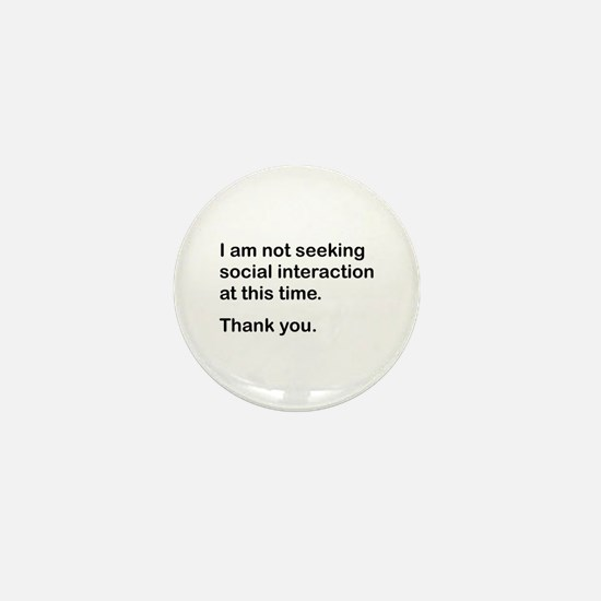 Antisocial Mini Button
