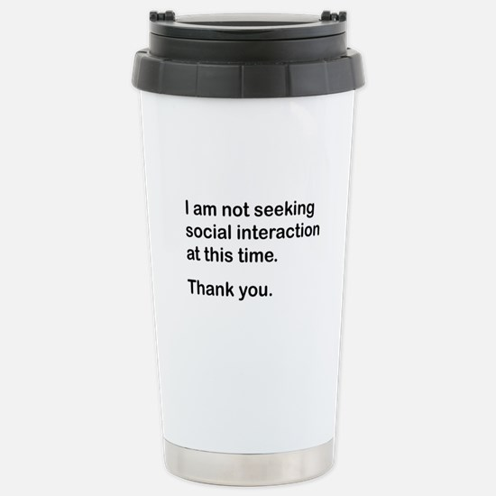 Antisocial Stainless Steel Travel Mug