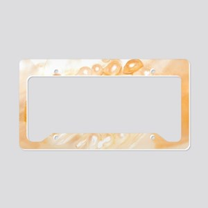 Mussel shell with pearls  License Plate Holder